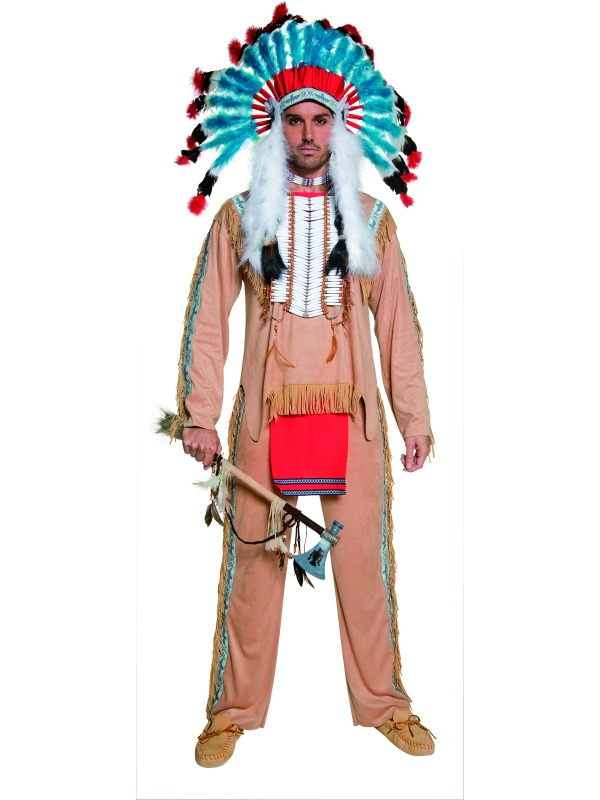 0c21f583d5 Adult Male Indian Costume & Indian Warrior Wig - Menu0027s Indian ...
